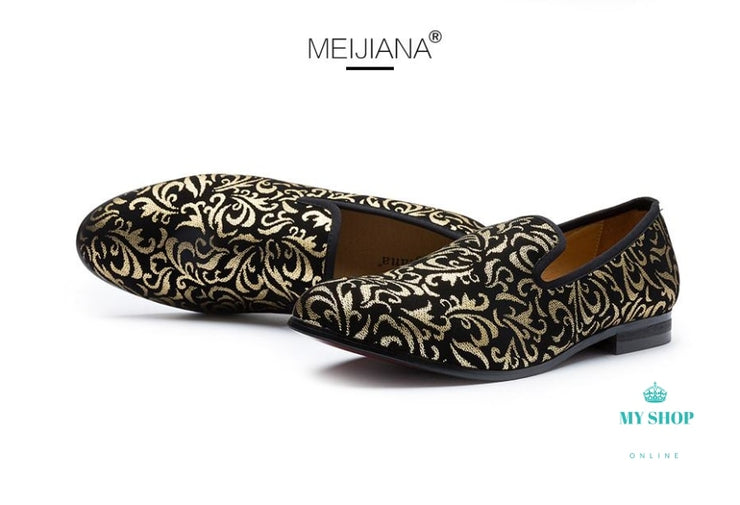 Luxury Men Shoes Black Loafers Accesorios