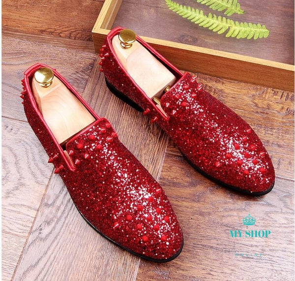 Luxury Mens Shoes Gold/red Accesorios