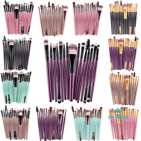 Maange Pro 15Pcs / Makeup Brushes Kit Cosmetic