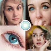 Mens Colored Contacts/Circle Lenses 2pcs/Pair Contact Lenses For Eyes Non Prescription Color Contact Lens With Free Case