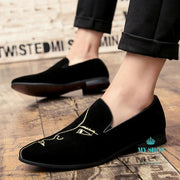 Men Casual Shoes Loafers Mens Moccasins Flats Black / 6.5