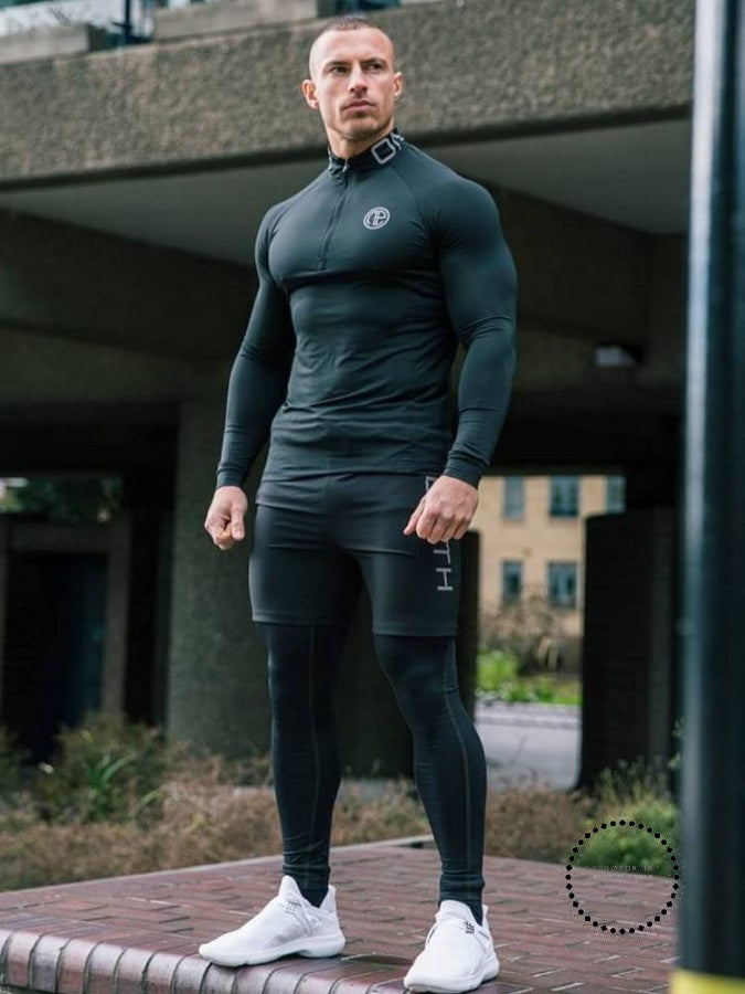 men gym clothes man compression set 3pieces