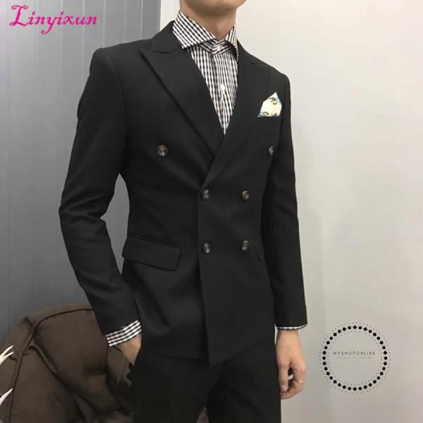 Men Herringbone British Style Custom Made Mens Suit Slim Fit Blazer Wedding Suits For As Picture 1 /