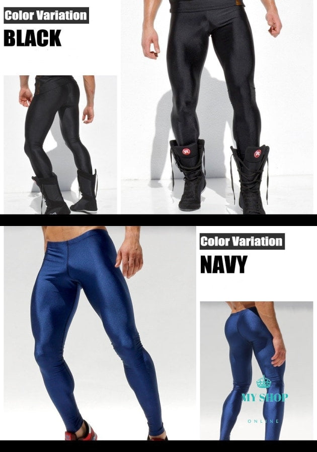 Men High Stretch Tight Pants Long Legging Pant Brand Sexy Designed Low Waist Sweatpants Full Length