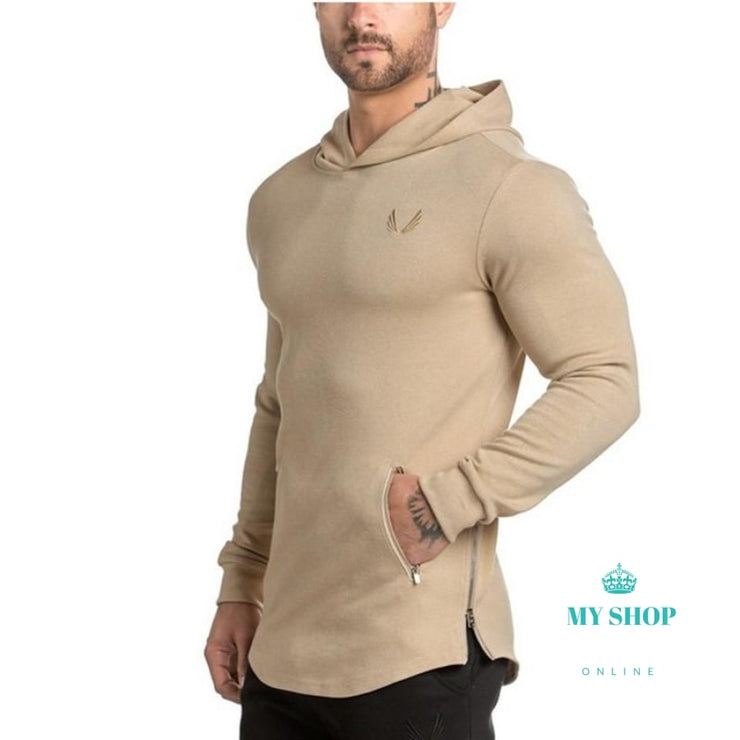 Men Hoodies Gyms Bodybuilding Sweatshirt Cotton Sweatshirts Hooded Pullover