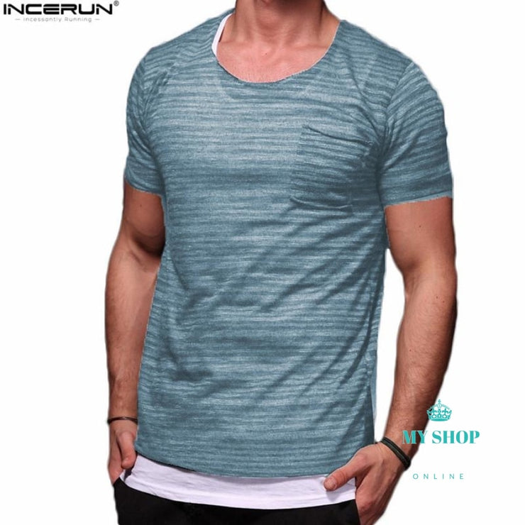 Men Light Transparent Hip Hop T Shirt Short Sleeve Black / S Accesorios