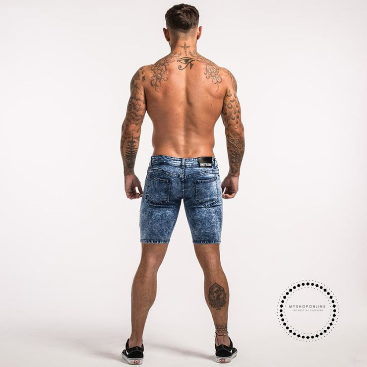 Men Shorts Summer Jeans Short For Stretchy Spray On Tight Pant Big Size Streetwear Hip Hop