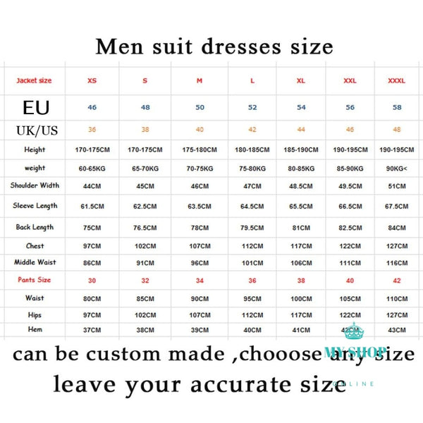 Men Suit Formal Italian Design 3 Piece Blazer (Jacket+Pants+Vest)