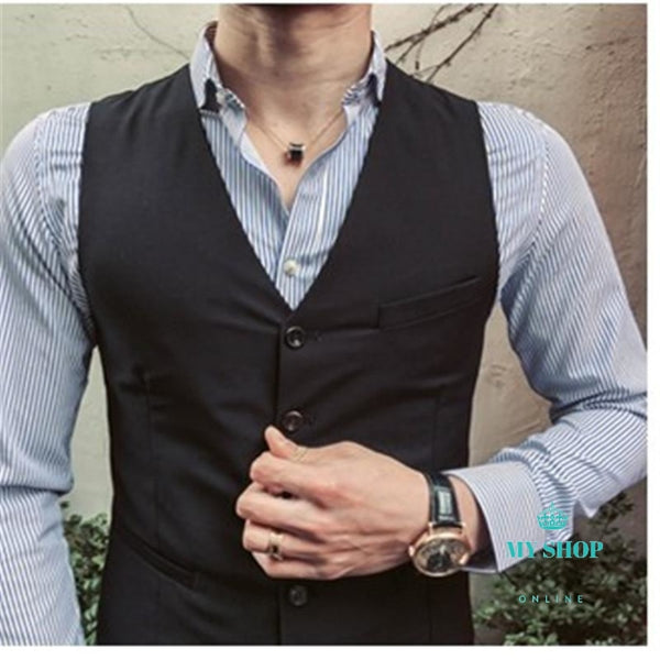 Men Suit Slim Fit 3 Pcs Accesorios
