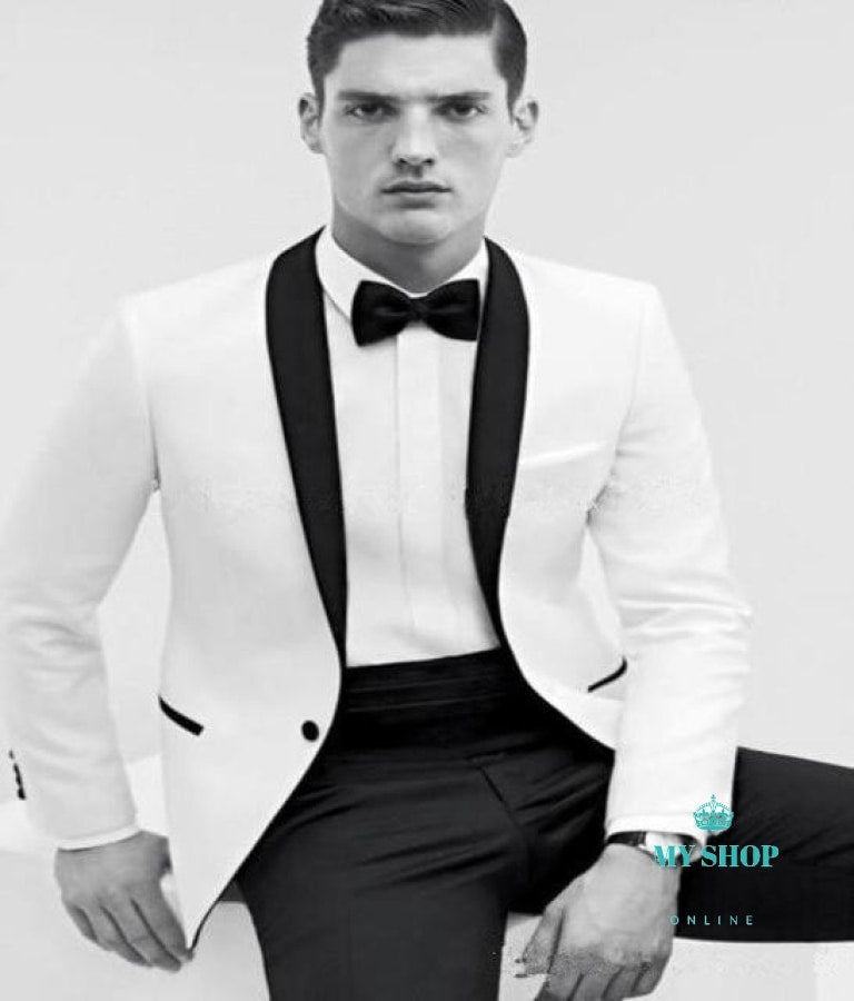 Men Suit Wedding Party Prom Smoking Mens Casual Work Wear Suits (Jacket+Pants) Accesorios