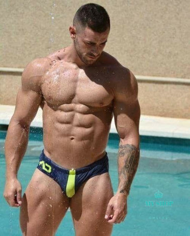 Men Swim Suit Underpants Mens Swimming Navy / L Accesorios