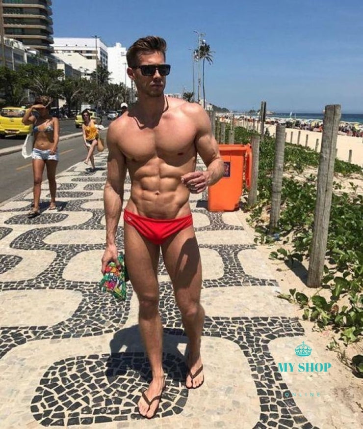 men swimming push-up pad swimwear boxers Summer - myshoponline.com