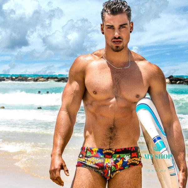 Men Swimwear Brazilian Classi Cut Swimsuits Swimming Mens Swim Surfing Shorts Accesorios