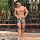 Men Swimwear Quick Dry Basic Traditional Swimsuits Long Board Boxer Trunks Big Plus Size Beach