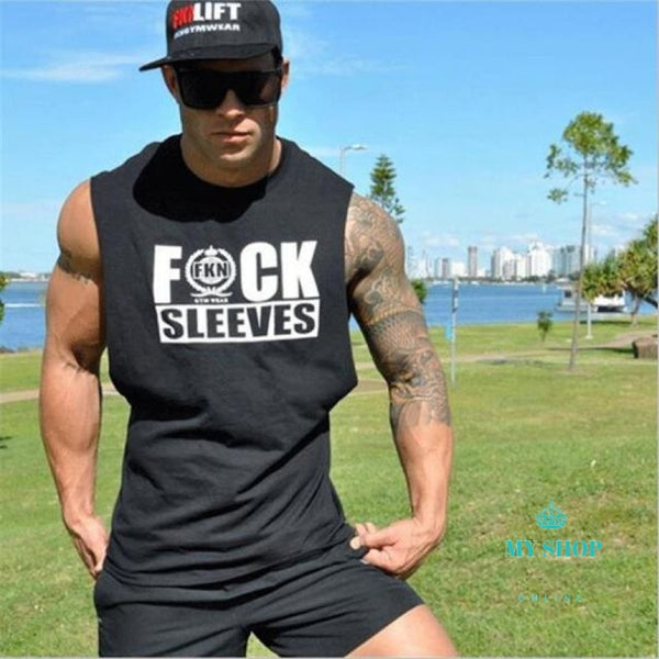 Men Tank Tops Exercise Clothing Gyms Bodybuilding Sleeveless Male Vests