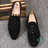Men Velvet Loafers Party Wedding Shoes Black 4 / 6.5 Accesorios