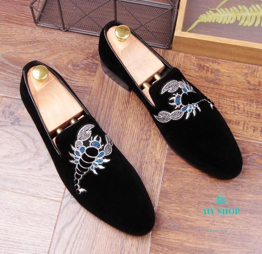 Men Velvet Loafers Party Wedding Shoes Accesorios