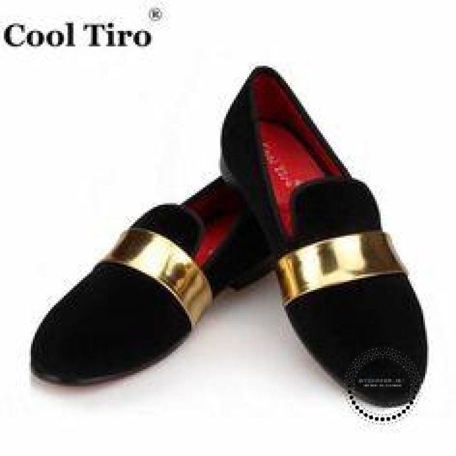 Men Velvet Loafers Party Wedding Shoes Black 6 / 6.5 Accesorios
