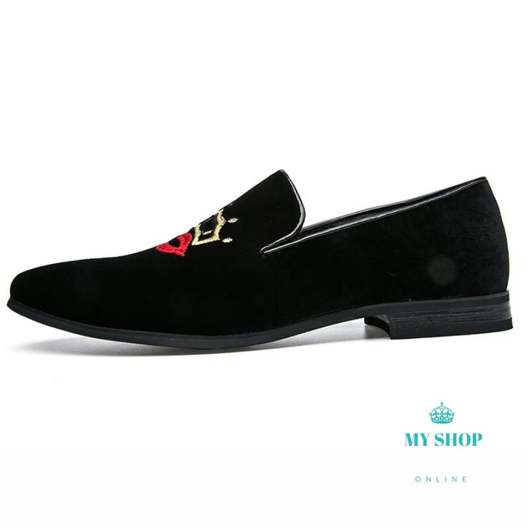 Men Velvet Shoes Loafers Party Accesorios