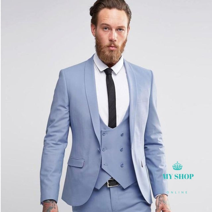 Men Wedding Suit Slim Fit 3 Piece Tuxedo Groom Groomsman Custom Men Suits