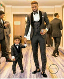 Men Wedding Suits Prom Best Man Suit (Jacket+Pants+Bow) Accesorios