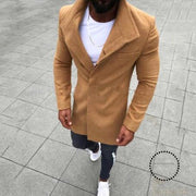 Men Winter Slim Fit Coat Wool Trench Design Stylish Cardigan Warm Plus Size Jackets For Male