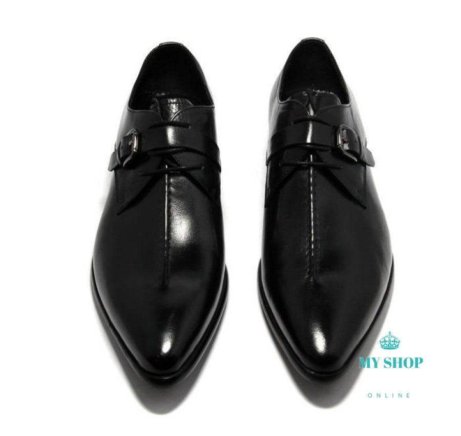 Mens Business Dress Shoes Genuine Leather Pointed Toe Wedding Accesorios