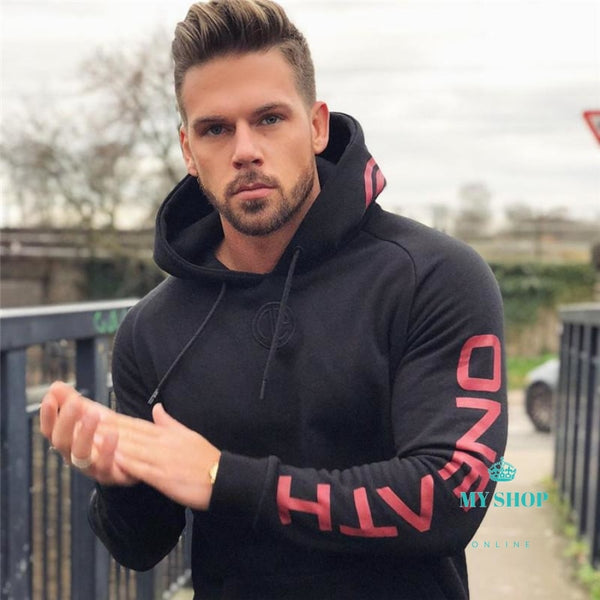 Mens Sets 2Pcs Hoodies+Pants Hooded Pullover Gyms Casual Jogger Workout Cotton Tracksuit Tops Set