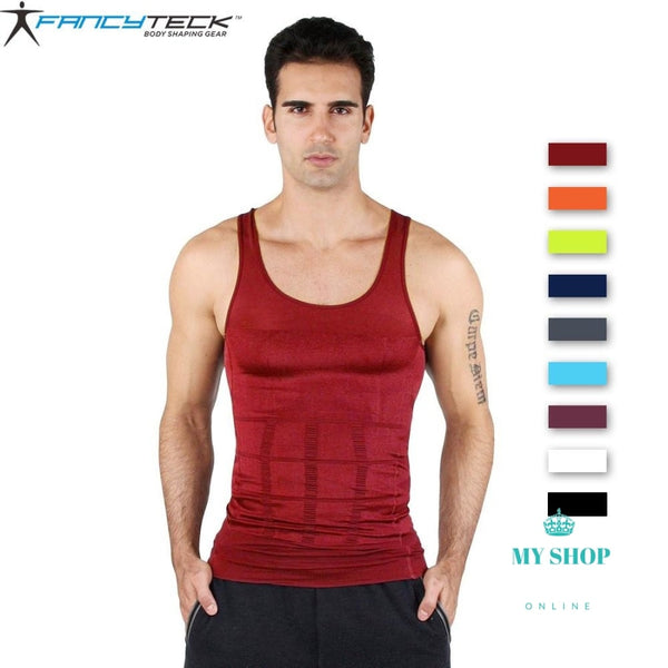 Mens Slimming Body Shaper Under Shirt Hombres