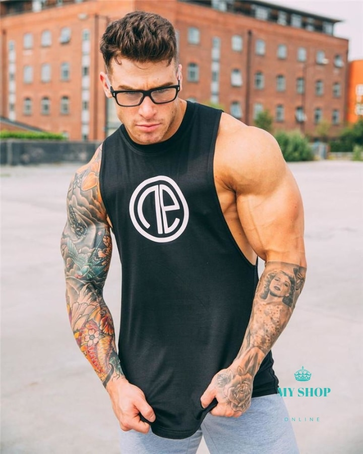 mens tank top Undershirt Lace Transparent - myshoponline.com