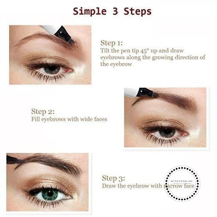 Microblading Eyebrow Pen Waterproof Fork Tip Tattoo Pencil Long Lasting Professional Fine Sketch