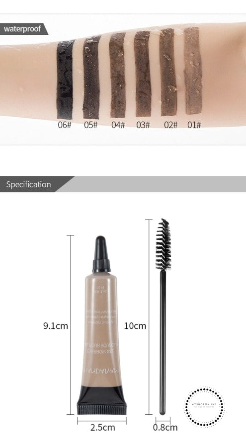 Microblading Eyebrow Tattoo Pen Brush Kit Waterproof Gel Paint Makeup Henna Dye Cream