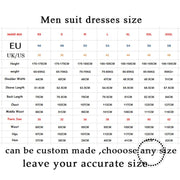 Navy Handsome Wedding Groomsmen Suits Party Prom Suit Groom Tuxedos (Jacket+Pants)