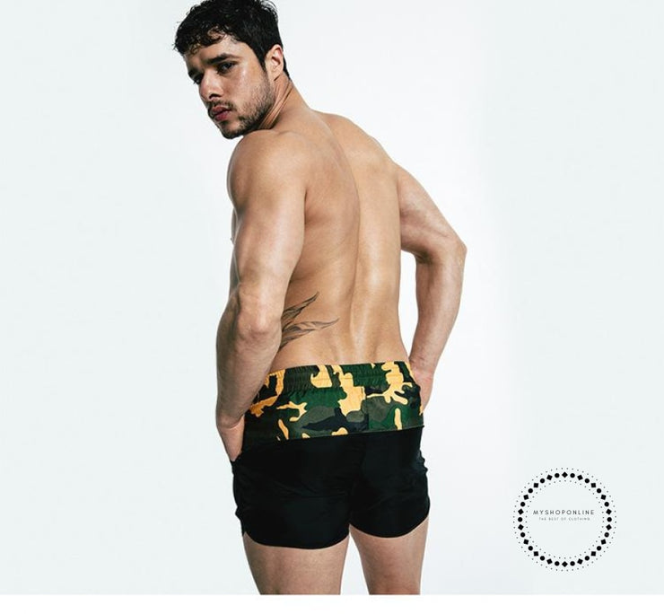 Padded Push Up Swimwear Men Camouflage Accesorios