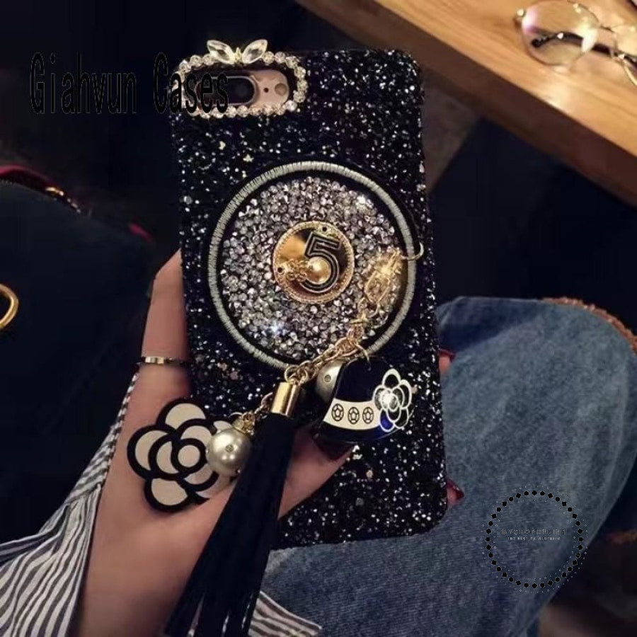Phone Case Cover For Iphone 7 7Plus 6 6S 6Plus Black Gold Accesorios