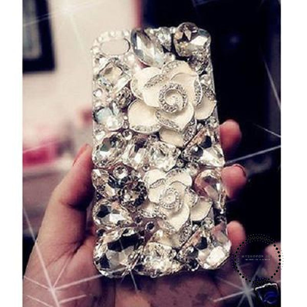 Phone Cases White Camellia Cryst / For Galaxy S8 Plus Accesorios