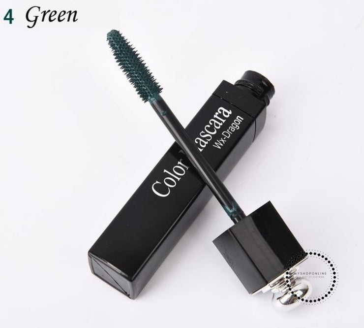 Popfeel New 8 Color Mascara Makeup Women Make Up Cosmetic Green Accesorios