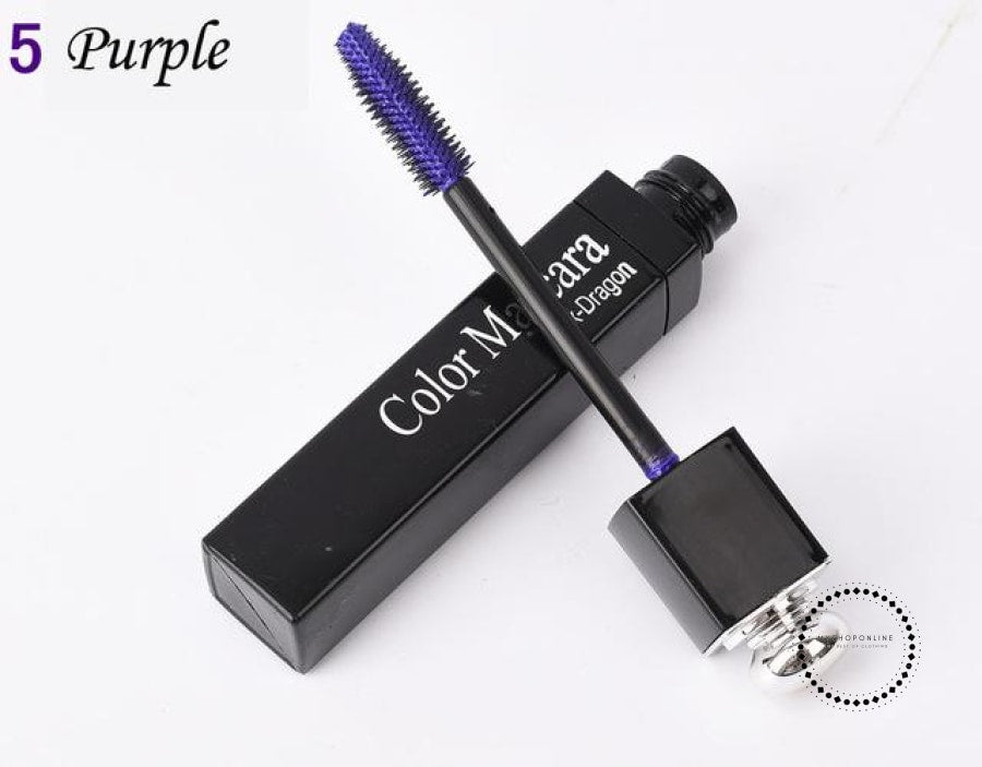 Popfeel New 8 Color Mascara Makeup Women Make Up Cosmetic Purple Accesorios