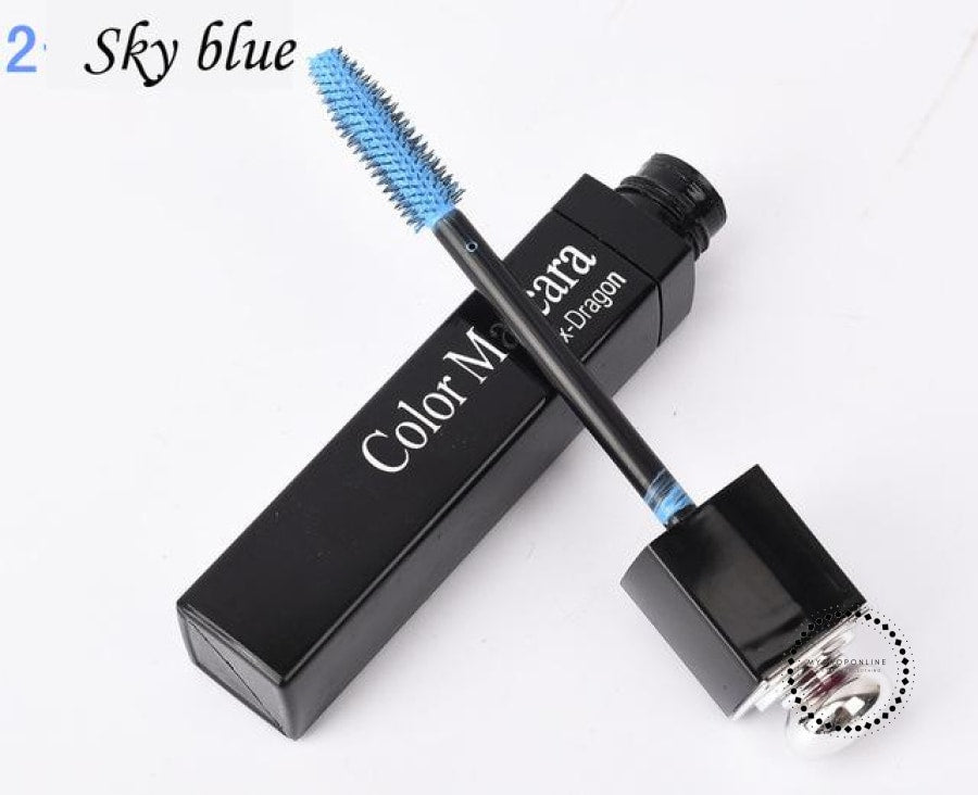 Popfeel New 8 Color Mascara Makeup Women Make Up Cosmetic Sky Blue Accesorios
