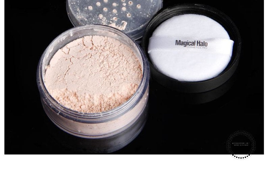 Powder Makeup Transparent Finishing Waterproof Cosmetic Puff For Face Finish Setting With Accesorios
