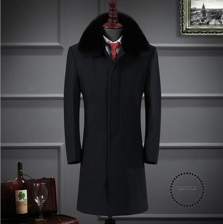 Premium Brand Keep Warm In Winter Long Cashmere Jackets Black / S Accesorios