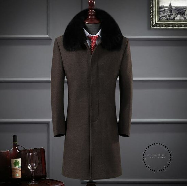 Premium Brand Keep Warm In Winter Long Cashmere Jackets Coffee / S Accesorios