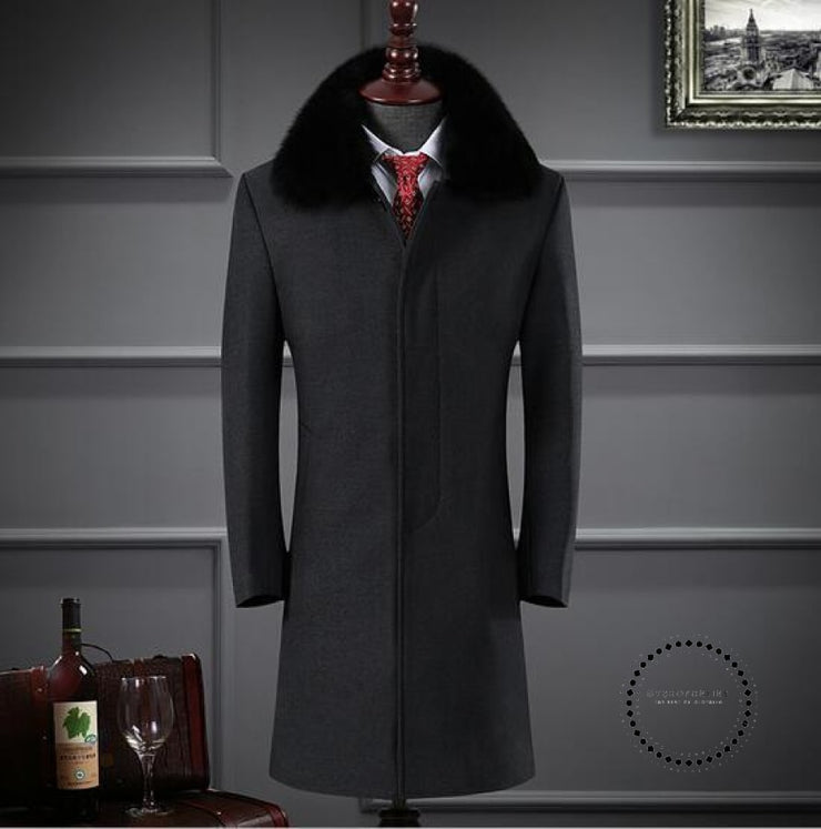 Premium Brand Keep Warm In Winter Long Cashmere Jackets Dark Grey / S Accesorios