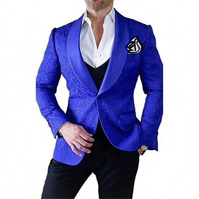 Handsome One Button Groomsmen  Peak Lapel Groom Tuxedos Men Suits Wedding/Prom Best Man Blazer ( Jacket+Pants+Tie+Vest) A194