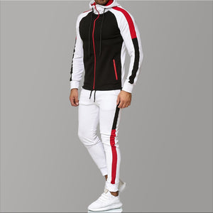 5XL Big Size Mens Tracksuits Men's Clothing Hoodies Red Stripe Sport Tracksuit Men Set Casual Tracksuit Men Sweat New