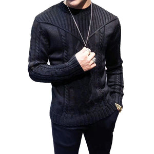 Autumn Winter Men's sweater casual pullovers knitted sweaters men clothes Fashion Sweaters for Men  Long-Sleeved sweater