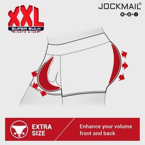 Jockmail 3D Padded Enhance Sexy Underwear Men Briefs U convex Gay Underwear Push Up butt lifter Gift Front Back Removable Pad