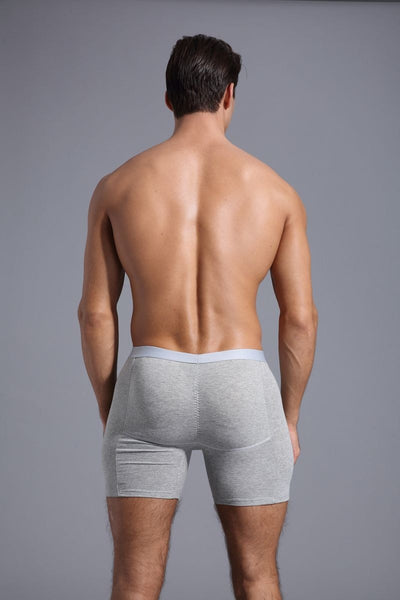 boxer men Men's butt enchancing  Body Shaper Panties with 4  pockets & 4 pcs spong pads cueca boxer padded underwear#CD 19