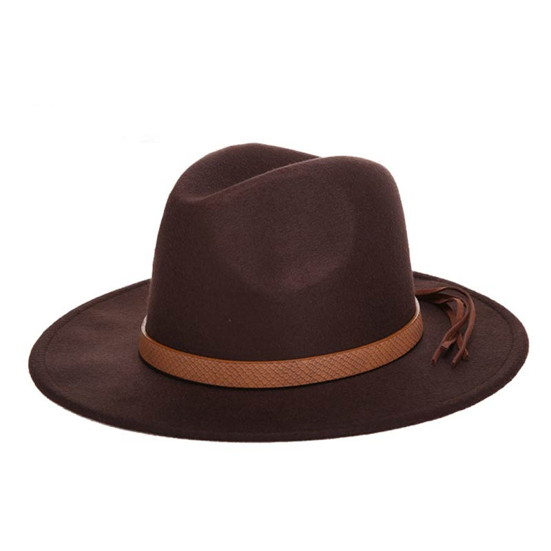 New autumn and winter men's large size cowboy hats fedora caps 60CM classical sombrero furry headscarf imitation wool cap visor