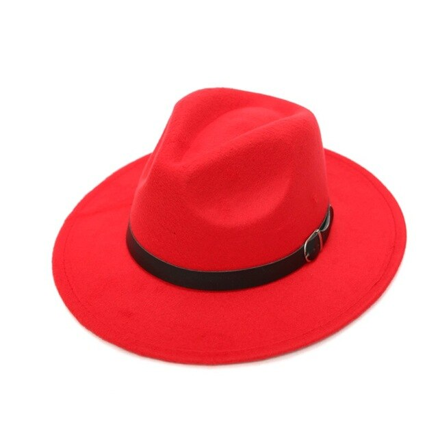 Retro Hard Felt Women Men Fold Wide Brim Billycock Sag Top Bowler Derby Jazz Fedora Panama Casual Hats (Size:58cm)